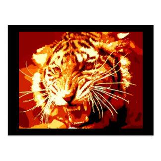 Wild Tiger Pop Art Postcard