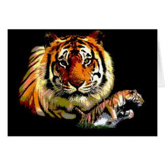 Wild Tiger Retro Pop Art Card