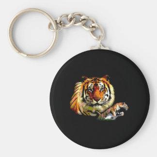 Wild Tiger Retro Pop Art Keychain