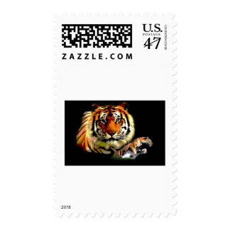Wild Tiger Retro Pop Art Postage