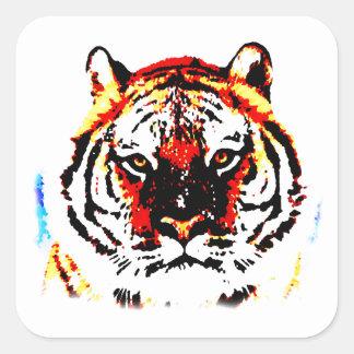 Wild Tiger Square Sticker