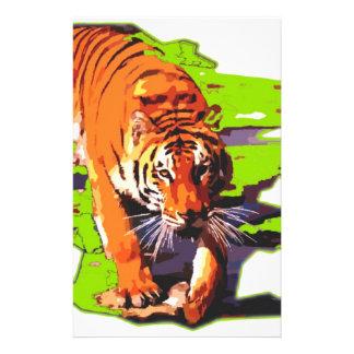 Wild Tiger Customized Stationery
