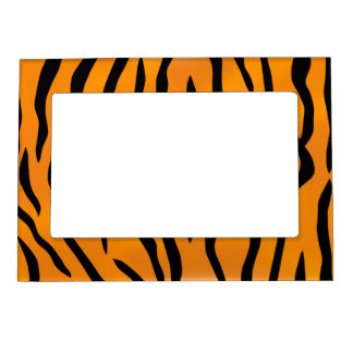 Wild Tiger Stripes Magnetic Picture Frame