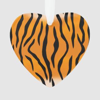 Wild Tiger Stripes Pattern Ornament