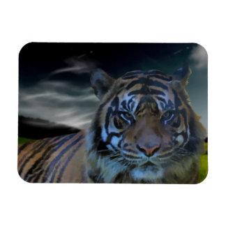 Wild Tiger Watercolor Wildcat Magnet