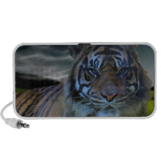Wild Tiger Watercolor Wildcat Portable Speaker