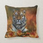 Wild Tigers Art Designer Pillow