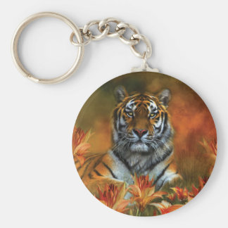 Wild Tigers Art Keychain