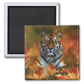 Wild Tigers Art Magnet