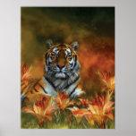 Wild Tigers Art Poster/Print