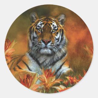Wild Tigers Art Stickers