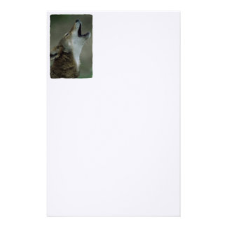 Wild Timber Wolf Howling Stationery