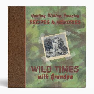 "Wild Times with Grandpa Recipe 1.5"" Photo Binder"