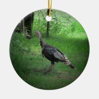 Wild Tom Turkeys Ceramic Ornament