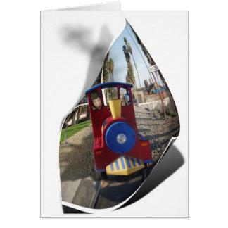 Wild Toy Train Ride Card