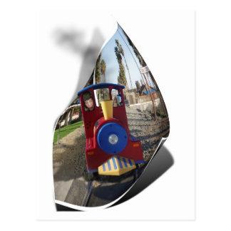Wild Toy Train Ride Postcard