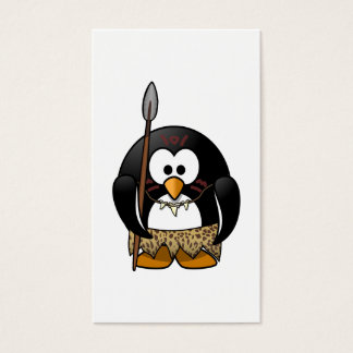 Wild Tribal Penguin Funny Cartoon Business Card