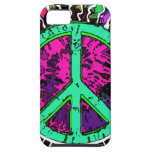 Wild Trippy Hippie Peace Sign iPhone 5 Covers