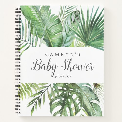 Wild Tropical Palm Baby Shower Gift List Notebook