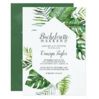Wild Tropical Palm Bachelorette Weekend Invitation
