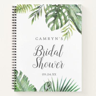 Wild Tropical Palm Bridal Shower Gift List Notebook