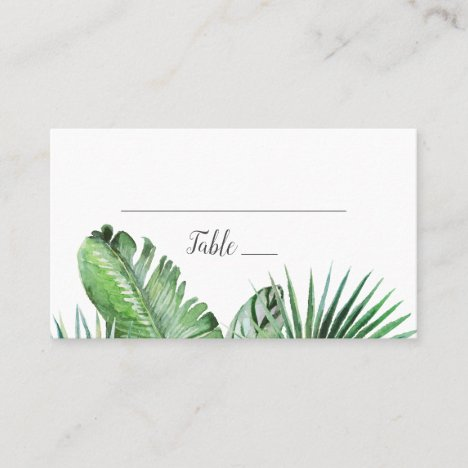 Wild Tropical Palm Wedding Place Card