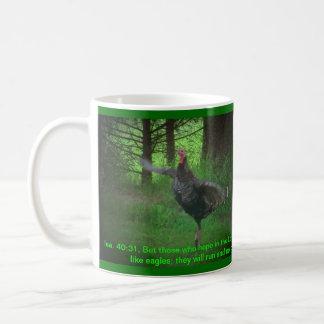 Wild Turkey and Isaiah 40:31 Coffee Mug