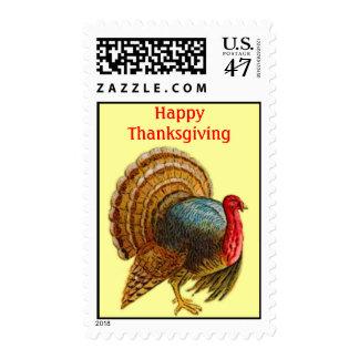 Wild Turkey Bird Happy Thanksgiving Postage