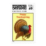 Wild Turkey Bird Happy Thanksgiving Postage Stamps