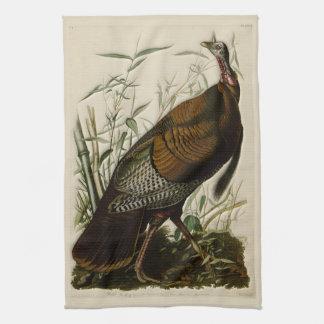 Wild Turkey by John Audubon Kitchen Towel