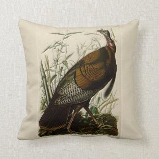 Wild Turkey by John Audubon Throw Pillow