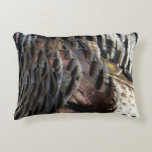 Wild Turkey Feathers I Abstract Nature Design Decorative Pillow