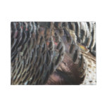 Wild Turkey Feathers I Abstract Nature Design Doormat