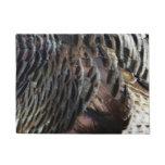 Wild Turkey Feathers I Abstract Nature Design Doormat