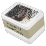 Wild Turkey Feathers I Abstract Nature Design Drink Cooler