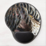 Wild Turkey Feathers I Abstract Nature Design Gel Mouse Pad