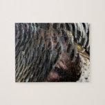 Wild Turkey Feathers I Abstract Nature Design Jigsaw Puzzle