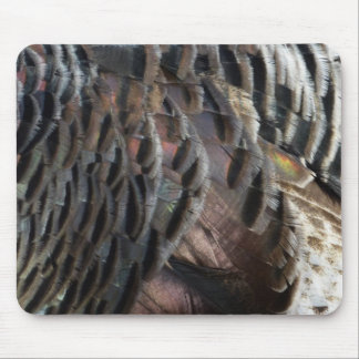 Wild Turkey Feathers I Abstract Nature Design Mouse Pad