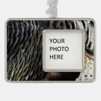 Wild Turkey Feathers I Abstract Nature Design Ornament