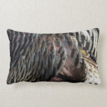 Wild Turkey Feathers I Abstract Nature Design Pillow