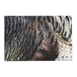 Wild Turkey Feathers I Abstract Nature Design Placemat