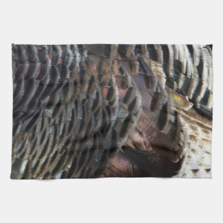 Wild Turkey Feathers I Abstract Nature Design Towel