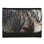 Wild Turkey Feathers I Abstract Nature Design Wallet For Women