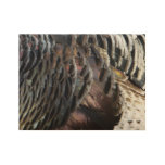 Wild Turkey Feathers I Abstract Nature Design Wood Poster