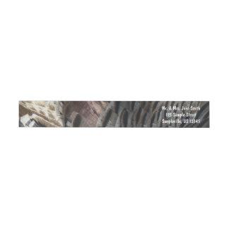 Wild Turkey Feathers I Abstract Nature Design Wrap Around Label