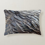 Wild Turkey Feathers II Abstract Nature Design Accent Pillow