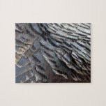 Wild Turkey Feathers II Abstract Nature Design Jigsaw Puzzle