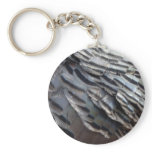 Wild Turkey Feathers II Abstract Nature Design Keychain