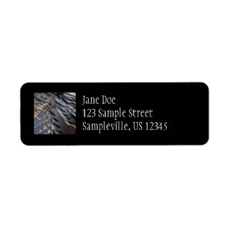 Wild Turkey Feathers II Abstract Nature Design Label