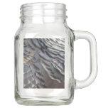Wild Turkey Feathers II Abstract Nature Design Mason Jar